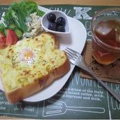 卵のっけトースト