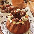 かわいい秋のケーキハロウィンにも ♪ チョコチップアーモンドケーキレシピ ♪