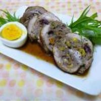 鶏のロールバーグ赤ワイン煮☆