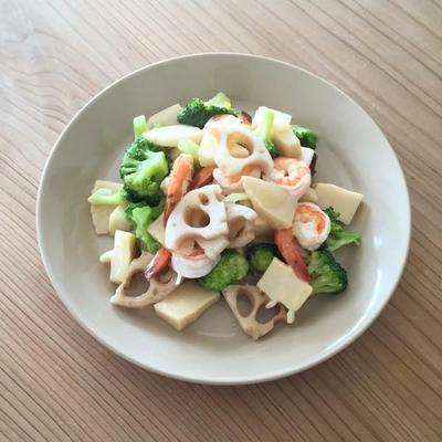 海老と野菜の中華風炒め