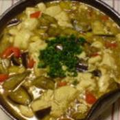 カレー風味の麻婆ナス豆腐