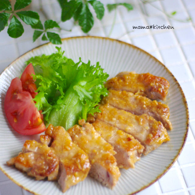 ハチミツ味噌のトンテキ*お刺身が食べられるようになるのって・・