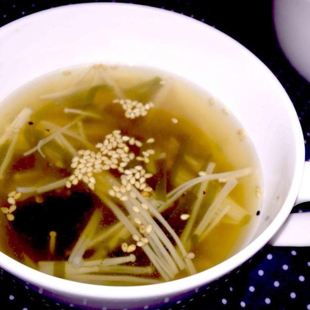 【レシピ】 切り昆布とえのきのコンソメスープ(^^♪ ~ミネラルたっぷり~