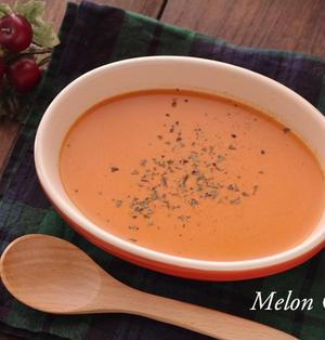 パプリカとトマトのなめらかポタージュスープ☆「ハンブレでらくらく♪時短レシピ」モニター参加レシピ