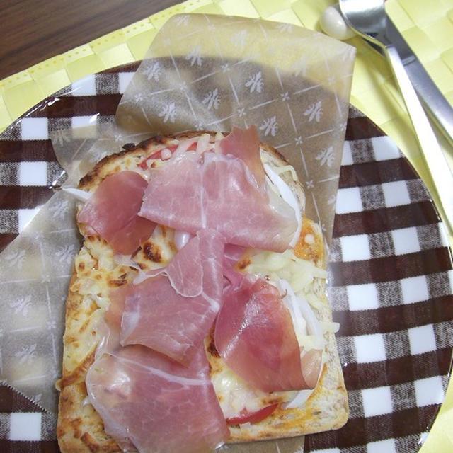 いんちきトマトソース de プロシュートのピザトースト