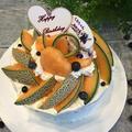 メロンたっぷりでパースディーケーキ~♪♪ by pentaさん