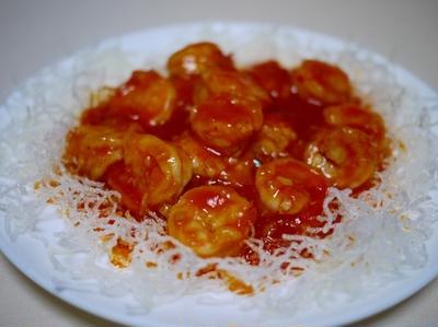 エビチリ と 麻婆豆腐