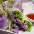 365日野菜レシピNo.38「紫山芋の生春巻き」