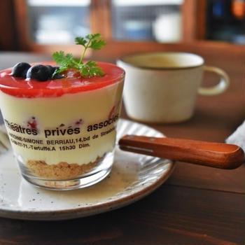 本屋さんの旅と家庭訪問簡単グラスデザート