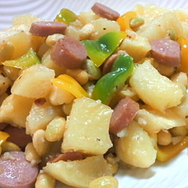ジャガイモとソーセージのホットサラダ☆
