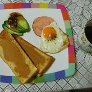 朝食は・・・パン食が多いです^0^