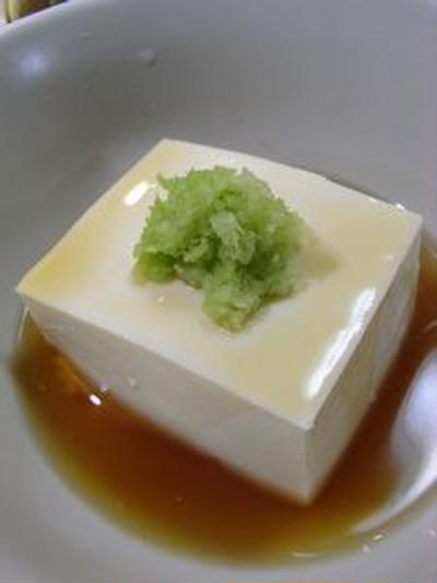 #155 豆腐あんかけワサビ添え