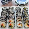 韓国海苔巻き(牛肉入り)**キンパッ
