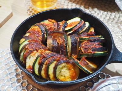 【レシピ】うまソースで簡単☆なすとズッキーニのラタトゥイユ風