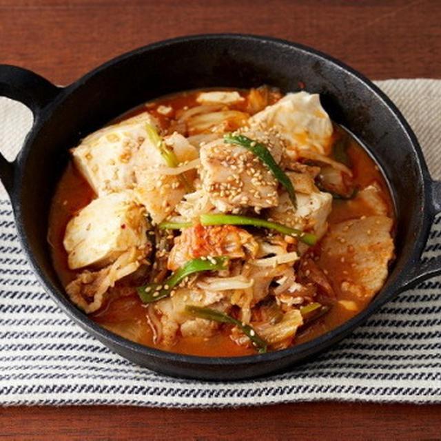 【チンするだけキット】豚キムチ豆腐、牛肉ともやしとピーマンのオイスター炒め、スパゲティ