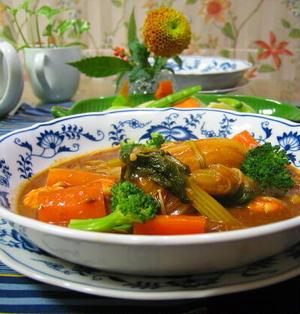 白菜、昆布出汁っで、ブラウンシチュー