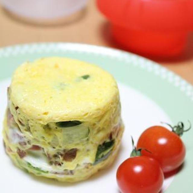 5分で完成♪卵1個&レンジでスパニッシュオムレツ