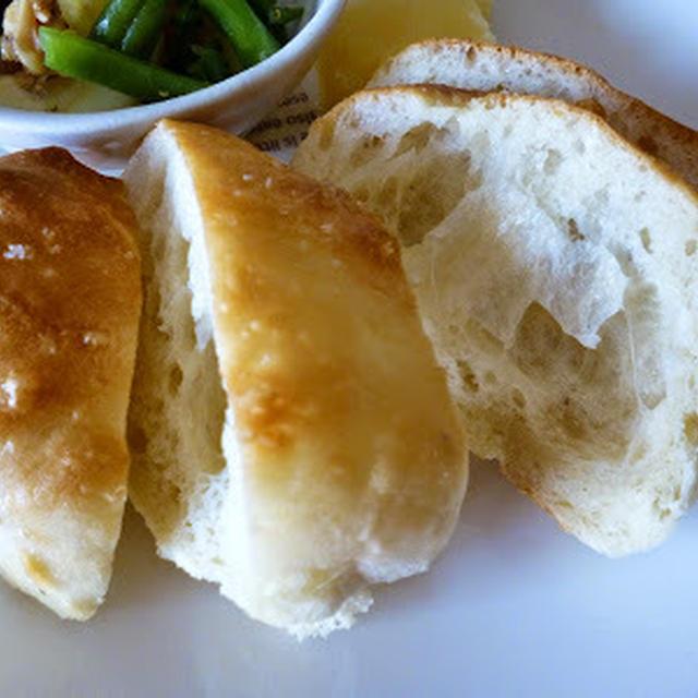 【パン】HB利用→冷蔵庫放置の生地で朝焼きたてフォカッチャ♪