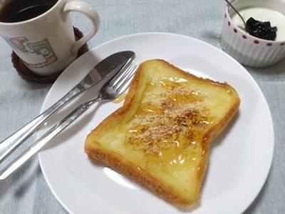 美肌をめざす朝食メニュー?フレンチトースト♪ とかぼちゃのスープ