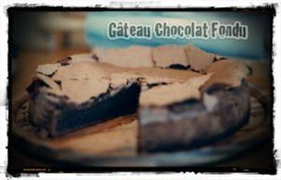 Gateau Chocolat Fondu
