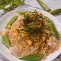 オクラと白身魚の和風パスタ 水漬けパスタでもちもち 福岡県産オクラ