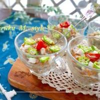 チアシードでネバふわ~タイ風蕎麦サラダ&レシピブログおつまみ3行レシピ
