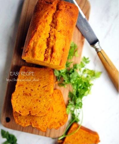 ♡混ぜて焼くだけ♡かぼちゃのパウンドケーキ♡【#簡単#お菓子#ハロウィン】