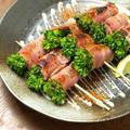 菜の花ベーコン巻き串焼き 、 焼鳥 by 筋肉料理人さん