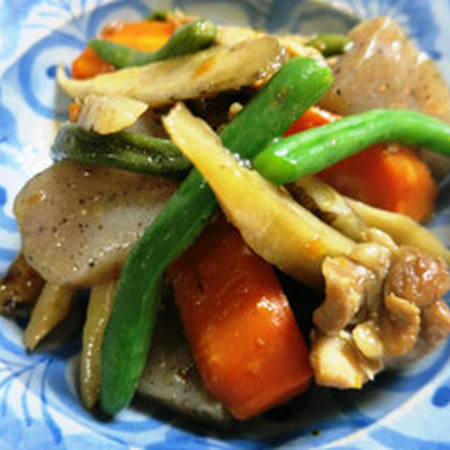 根菜類のオイスターソース煮
