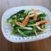 タイ風味の小松菜と桜えびの和え物