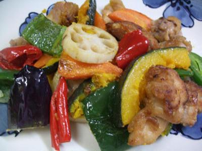 鶏肉とカラフル野菜のお好み味付け