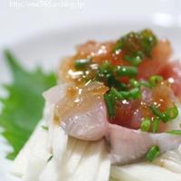 お刺身と山芋のサラダ