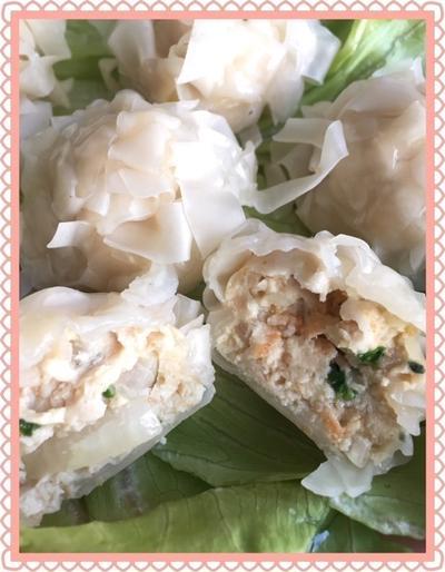 包まないで鶏ひき肉シュウマイ と ゲソ天〜ひき肉ダネの半分は冷凍保存で!