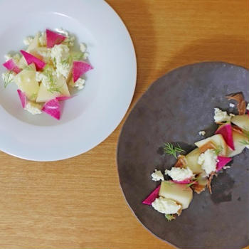 2種類の西洋梨「ル レクチエ」と「ゼネラルレクラーク」を食べ比べしてみた。