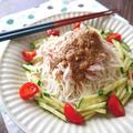 レンジで蒸し鶏♪バンバンジー風素麺
