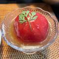 トマトのわさび餡かけ