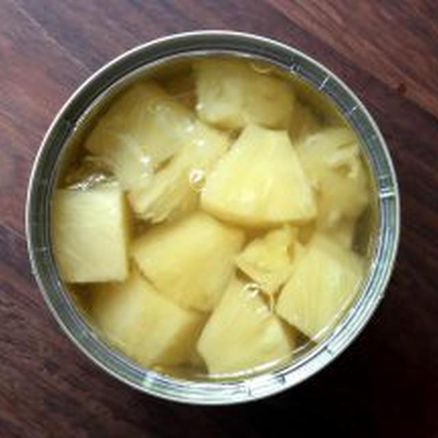 【缶詰レビュー】カンピー パインアップル 厚切り ひとくちカット