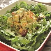 薩摩芋とアボガドと春菊のサラダ