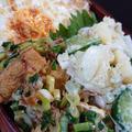 チキンライス弁当と餃子