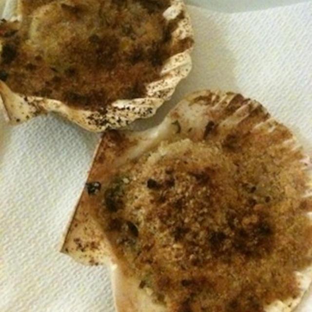 ホタテのオーブン焼きパン粉とじ