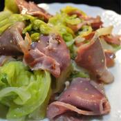豚タンと新キャベツの粒マスタードサラダ