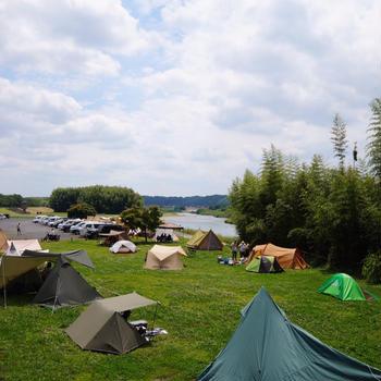 初の無料キャンプ場♪①