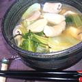 もつ煮込み(里芋、もつ、チンゲン菜、しめじ)