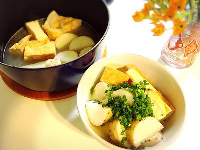 長芋と厚揚げの白だし煮