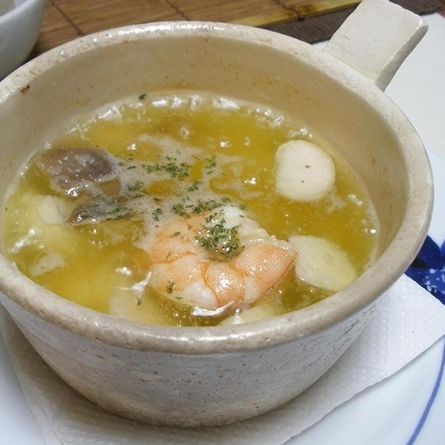 嵐の夜のレッスン / 水菜とツナのサラダ, エビのアヒージョ