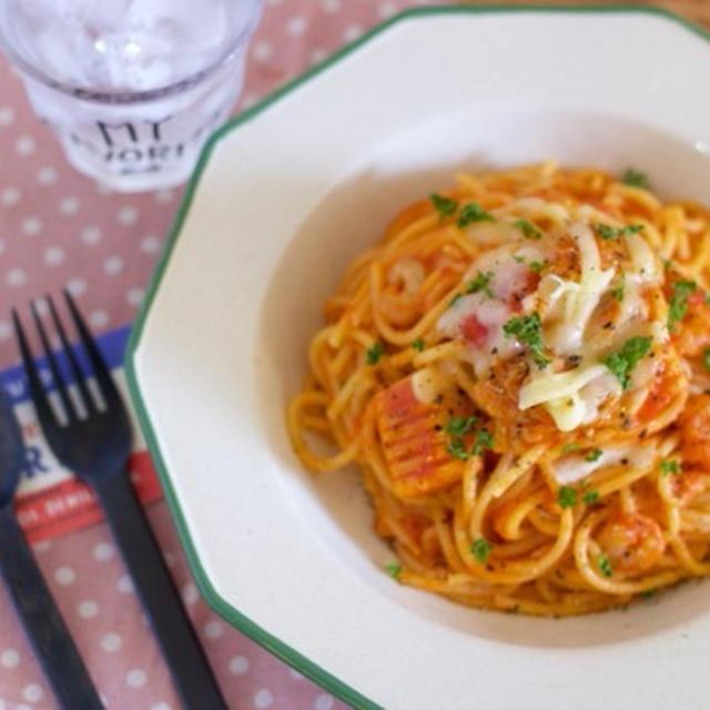 【恋活サプリ連載】おうちデートの恋活レシピ♡フライパンひとつで簡単「シーフードトマトパスタ」