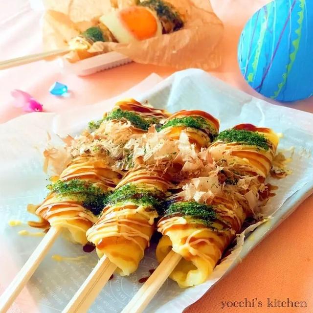 お祭り気分♡屋台の箸巻きレシピ/かぼちゃパン