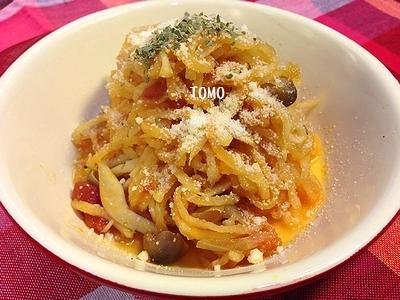 節約&作り置きにも♪切り干し大根のトマト煮