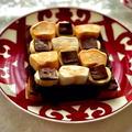 マシュマロ・バナナのタイルチョコレートトースト