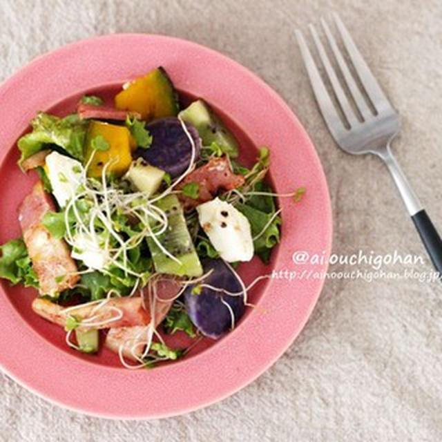 ホクホク蒸し野菜とカリカリベーコンのパワーサラダでダイエット中でも満腹♡